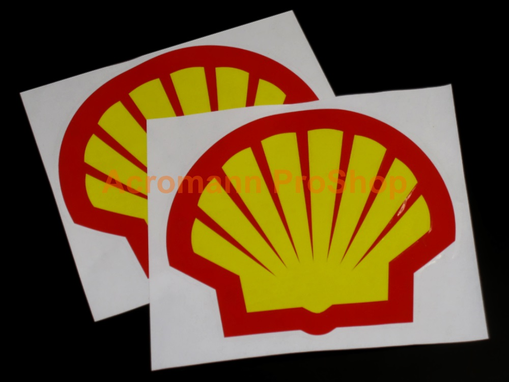 Shell Oil Gasoline Logo 3inch Decals Sticker (Style#1) x 2 pcs